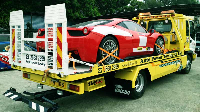 self-developed flat bed towing truck to transport your favorite cars