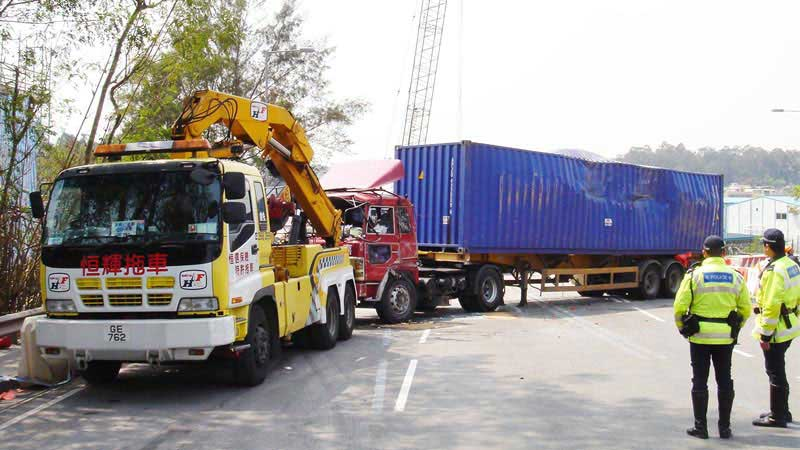 with heavy-duty reocvery booms, hydraulic cranes, towing winches and extendable underlifts